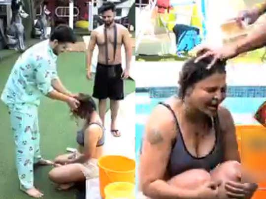 aly rahul makes rakhi bath