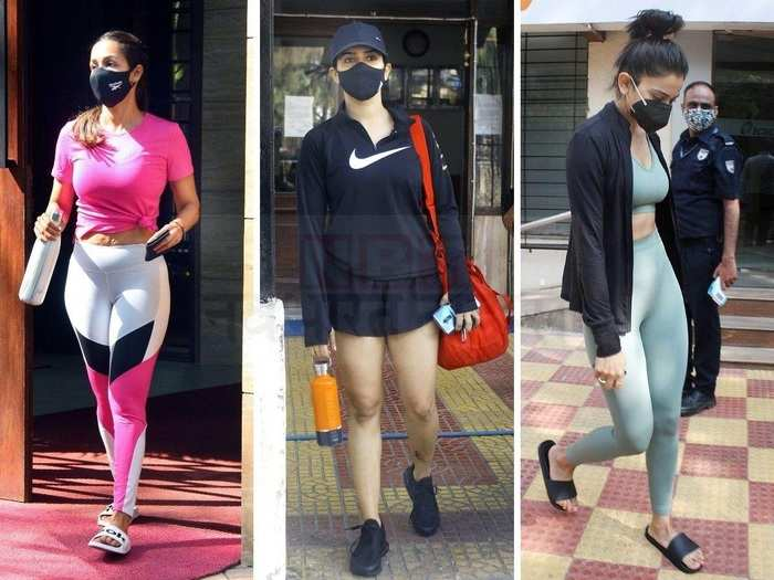 from malaika arora to kareena kapoor khan check out stylish gym look of Bollywood actresses in marathi