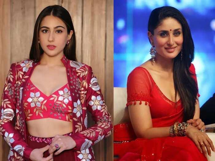 fashion face off kareena kapoor khan and sara ali khan who look better in marathi