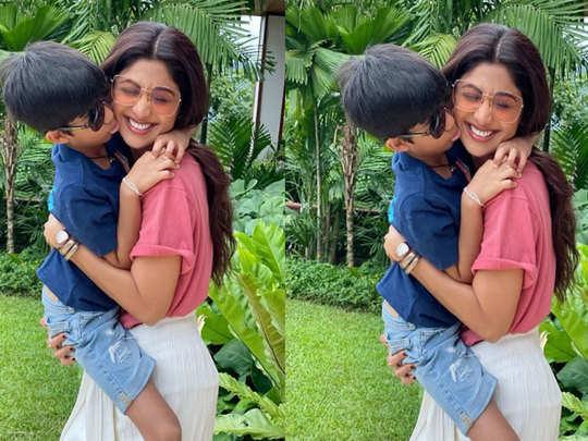 shilpa shetty the bollywood actress taught her son vivaan to make diy salt scrub