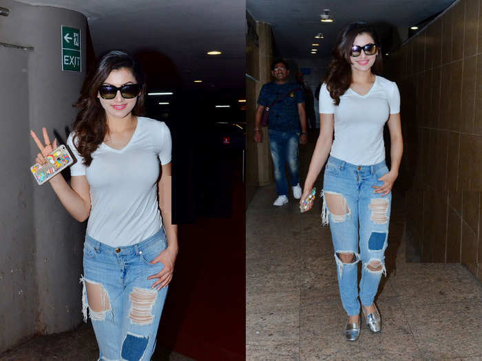 urvashi rautela brutally trolled for her bum rip jeans