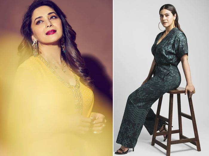 fashion faceoff madhuri dixit in ridhi mehra and kajol in ikai