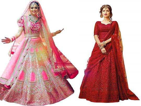 Lehenga On Amazon : खूबसूरती दिखना है तो शादी में पहनें यह डिजाइनर Wedding Lehenga