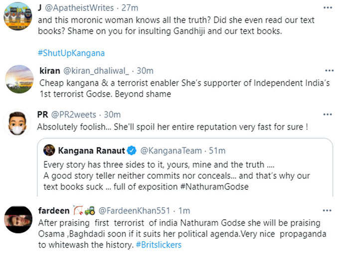 Kangana is being criticized on social media