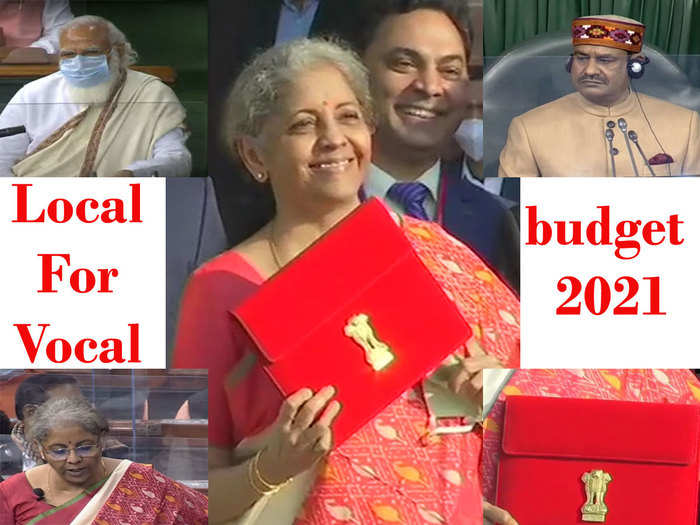 during the budget 2021 speech, the leaders gave the message of local for vocal through their clothes