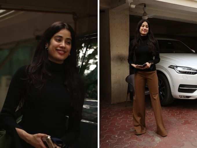 भाई अर्जुन कपूर के घर पहुंचीं जाह्नवी कपूर, पैंट और टॉप में दिखा फिट फिगर