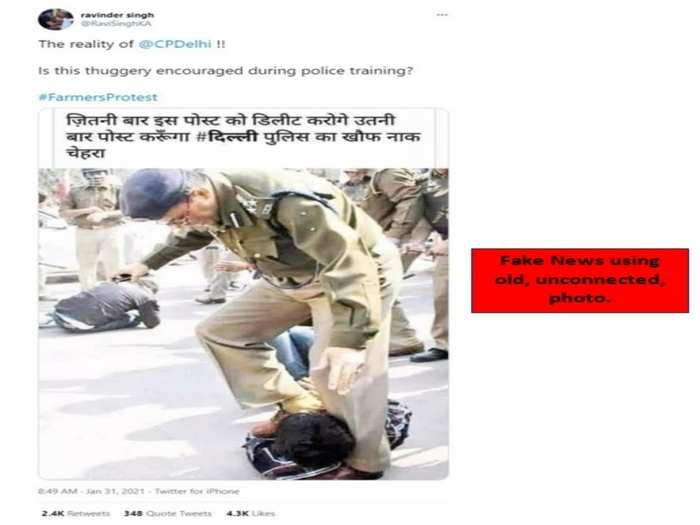 delhi police acts against the massive misinformation campaign being undertaken on social media to incite further violence in the name of farmers protests