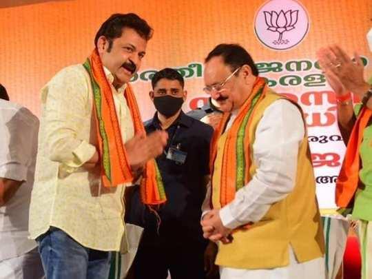 Actor Krishnakumar in BJP