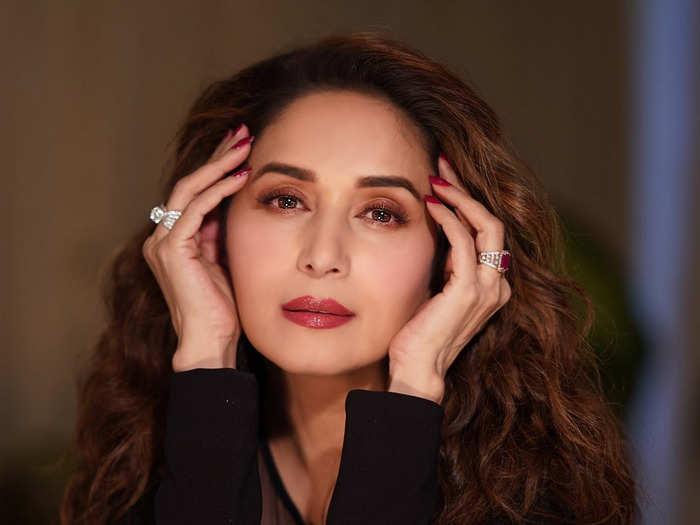 madhuri dixit in arpita mehta saree beats all other actresses in beauty