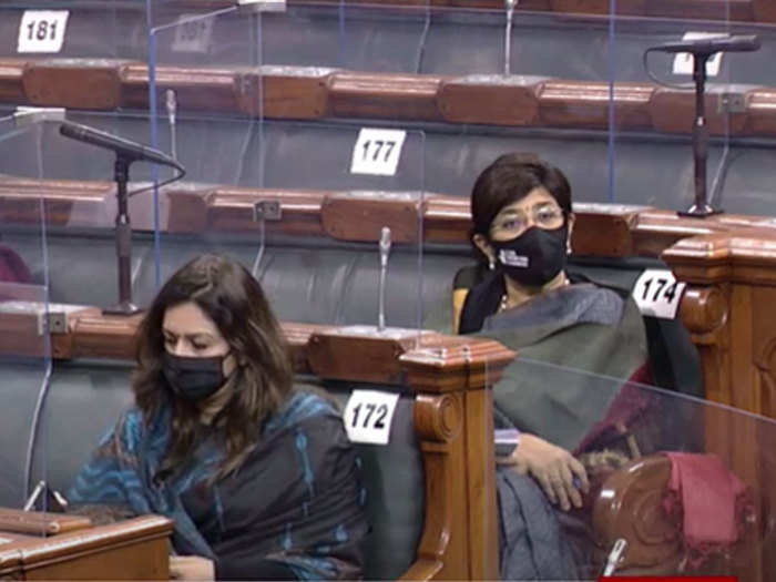 budget session: identify who are these women mp in mask at rajya sabha today