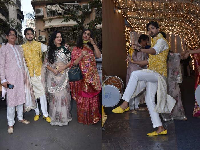 padmini kolhapure son priyank sharma weds karim morani daughter shaza morani see inside photos