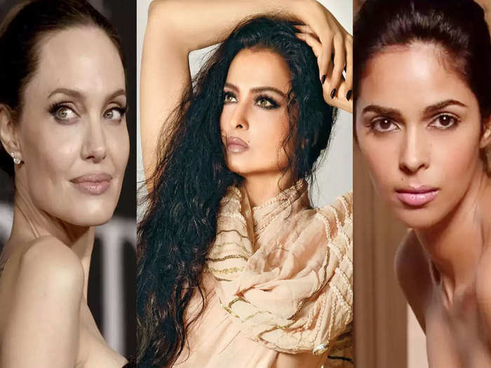 mesmerizing beauty of actress rekha to parineeta chopra these actresses have beauty marks on their face