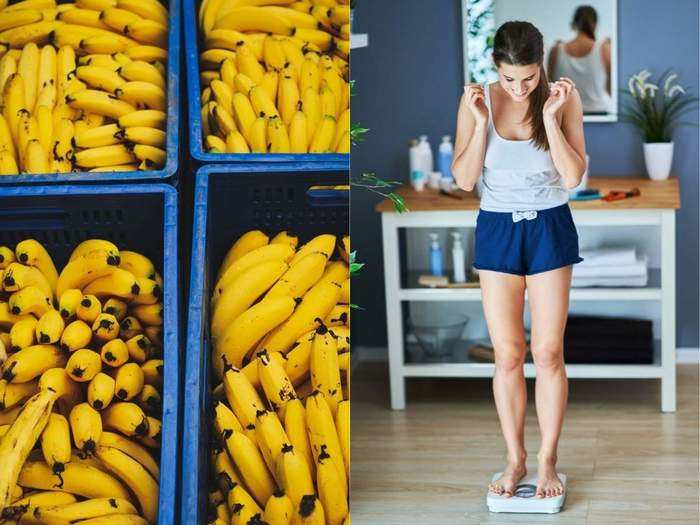 how to reduce weight with help of banana in marathi