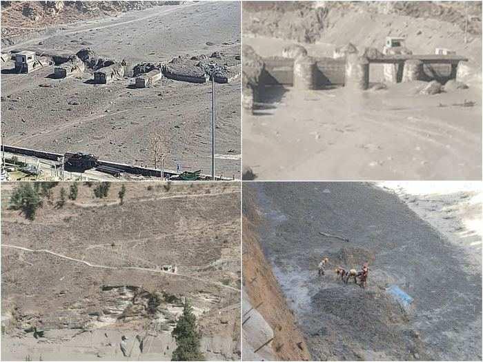 uttarakhand tragedy photos and videos of nanda devi glacier burst today in chamoli