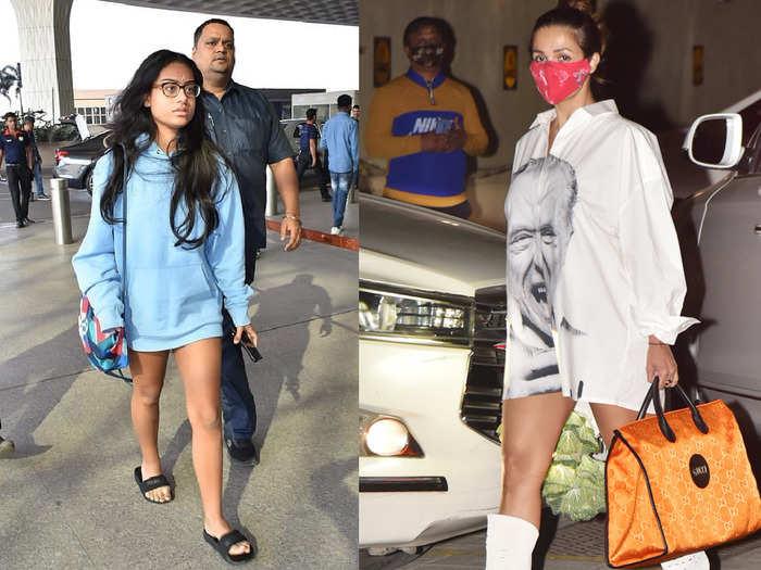 priyanka chopra to malaika arora spotted in dresses without pants