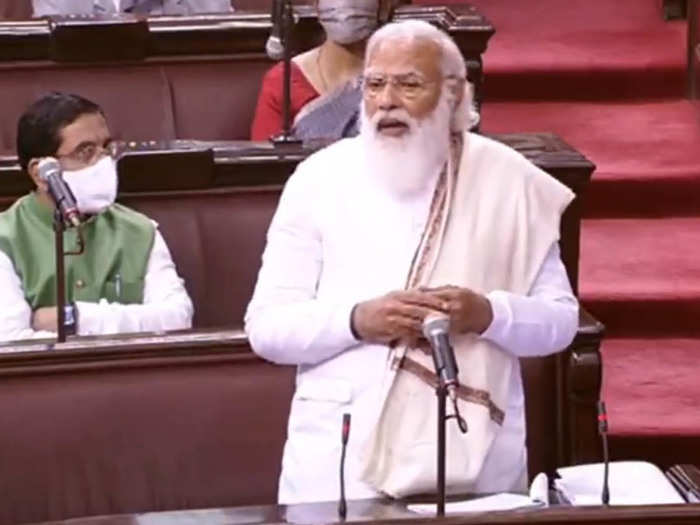 Narendra Modi in Rajya Sabha FDI Andolan Jivi Speech