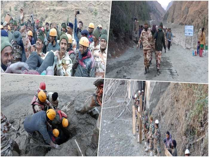 uttarakhand glacier burst itbp expertise in rescue and relief operations in mountain during natural calamity