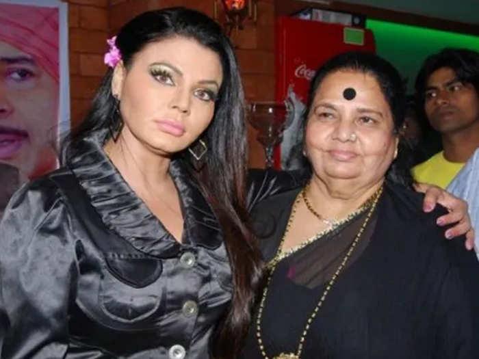 Rakhi Sawant With Mother