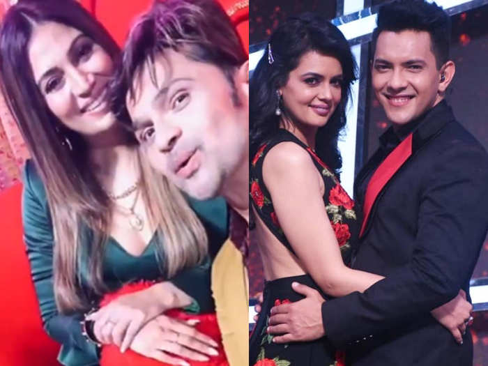 celebs couple in indian idol for Valentine special shoot