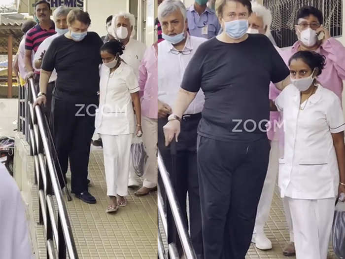 Randhir Kapoor spotted at the hospital