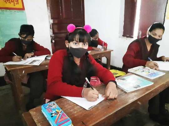 noida school reopening after 11 months social distancing and mask are mandatory