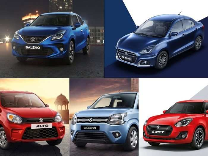 maruti suzuki alto to swift to wagon r to baleno to dzire here are top five best selling cars in india