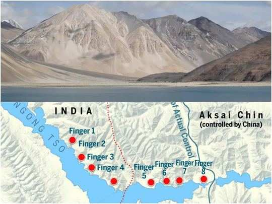 pangong lake finger area map explained after india china agree to disengage