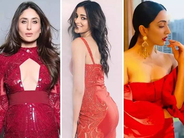 wear stylish red colour dress like bollywood actresses on valentines day in marathi