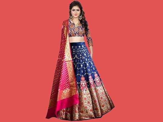 Lehenga On Amazon : शादी या त्योहारों में पहने खूबसूरत Lehenga, 82% के डिस्काउंट के साथ ऑर्डर करें