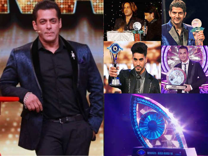 a look at trophies from bigg boss 1 to bigg boss 14 and change in cash prize for winner
