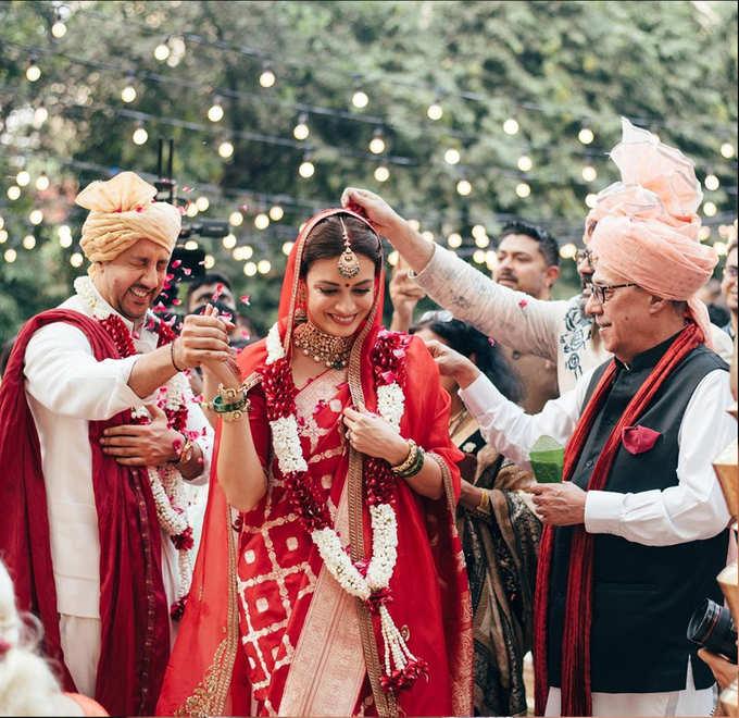 दीया मिर्जा की शादी की खूूबसूरत तस्वीरें