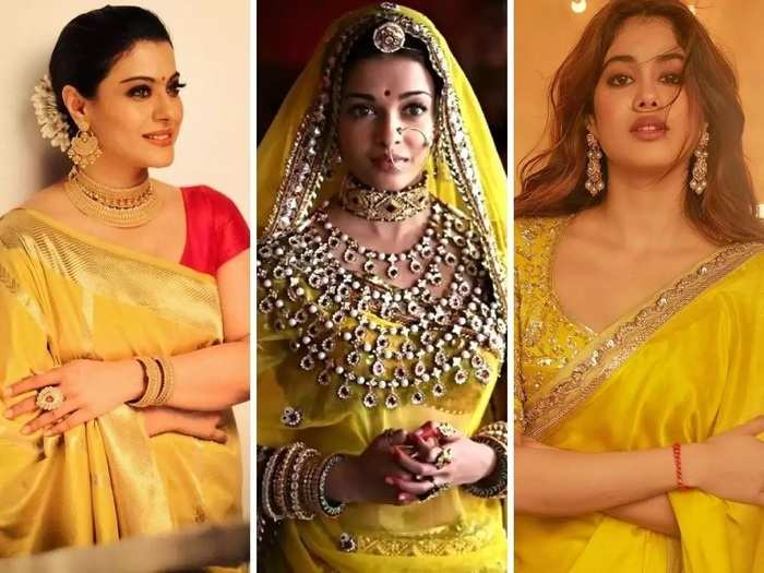 vasant panchami 2021 stylish and stunning yellow colour outfits of bollywood actresses in marathi