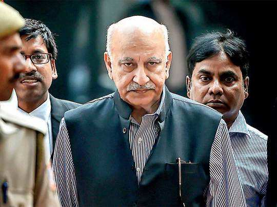 MJ Akbar had resigned as a Union minister after filing the complaint