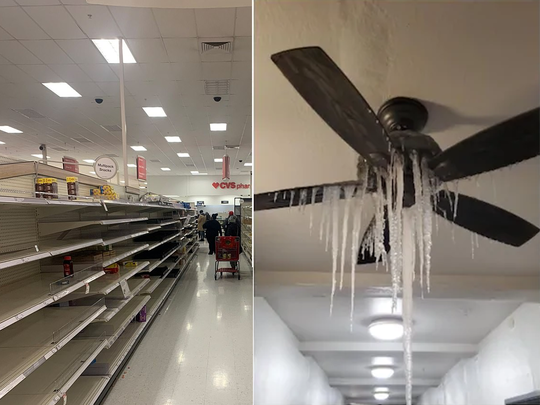 us texas freezes without food water and electricity see viral posts