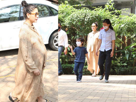 mommy to be Kareena Kapoor Khan spotted with taimur At Bandra