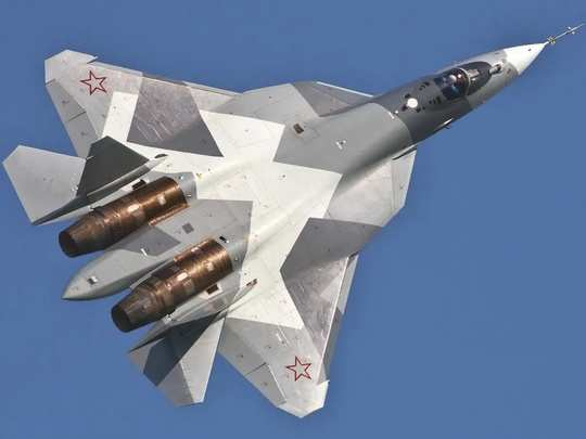 russia sukhoi su-57 fighter jet testing a gzur hypersonic guided missile 10 times faster than sound