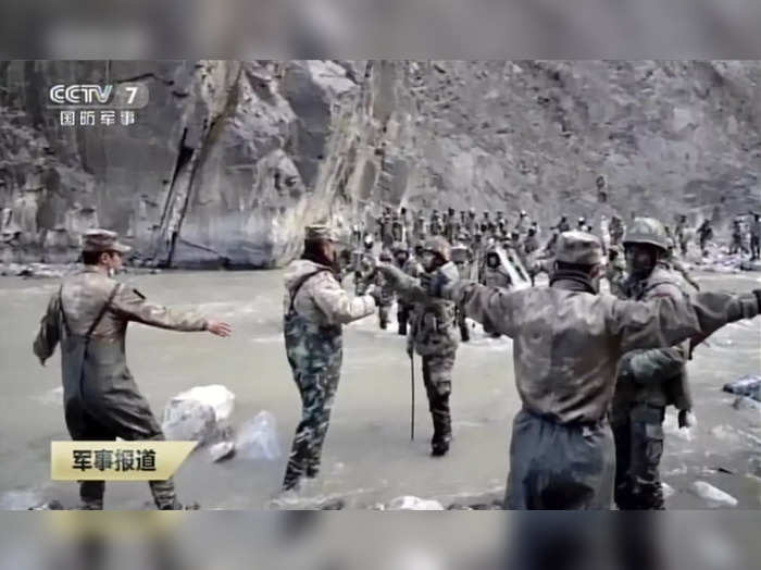 Galwan Valley: In this image taken from video footage run Feb. 19, 2021 by China...