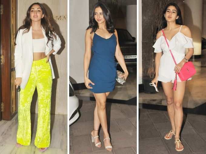 मनीष मल्होत्रा के घर पार्टी, रकुल प्रीत सिंह के ग्लैमरस लुक के आगे फीकी पड़ीं सारा-कियारा