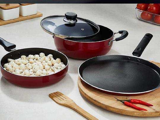 Cookware Set On Amazon: 70% तक के डिस्काउंट पर खरीदें Non Stick Cookware Set, कुकिंग को बनाएं आसान