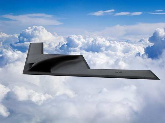 northrop grumman b-21 raider stealth bomber us air force and s-400 missile system