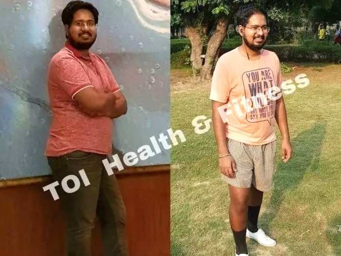 real life weight loss transformation story this 27 year old man reduced weight by 16 kg know how