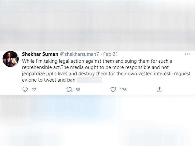 Shekhar Suman's tweet