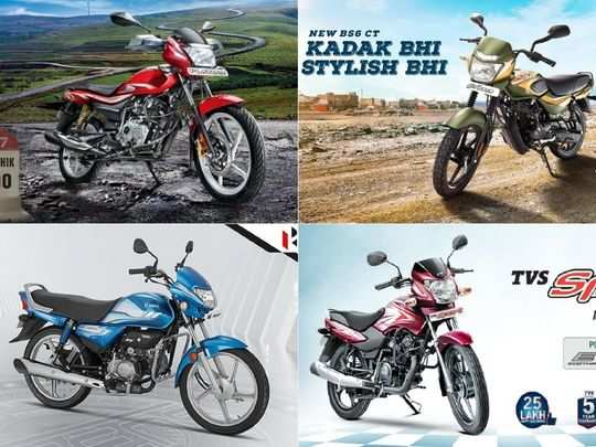 tvs sport to bajaj ct100 to bajaj ct100 to hero hf deluxe here are four cheapest and best mileage motorcycles in india