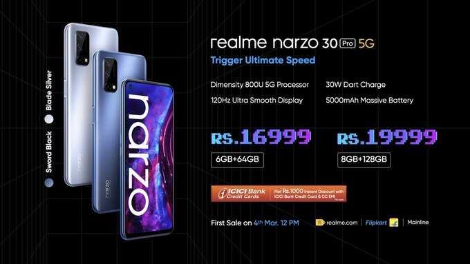 Precio y especificaciones de Realme Narzo 30 Pro 5G
