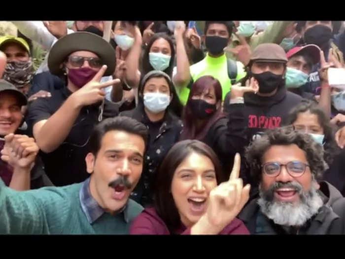 Rajkummar Rao and Bhumi Pednekar shared pawri time video