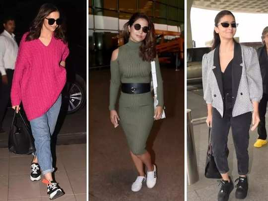 bollywood big actresses troll for their airport look in marathi