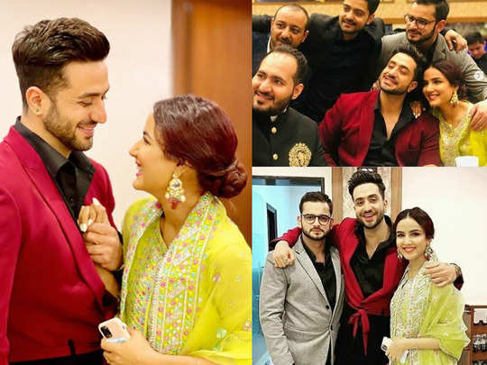 jasmin bhasin hogs limelight at aly goni birthday celebration in his hometown kashmir watch viral pics