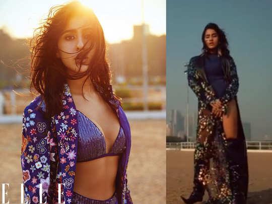 Sara Ali Khan video of Elle shoot 2021