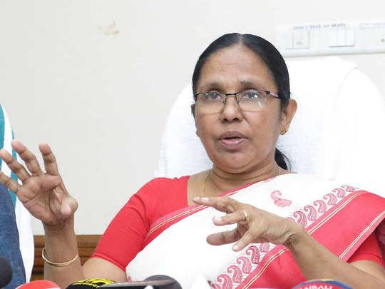 Health minister KK Shailaja