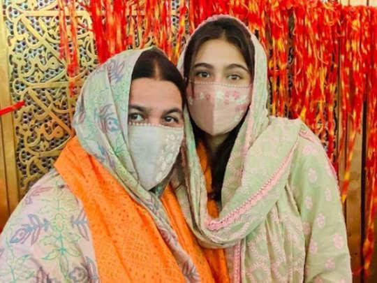मां अमृता सिंह के साथ सारा अली खान